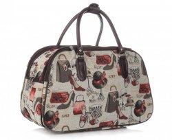 MALÁ cestovní taška kufřík Or&Mi Fashion Multicolor - béžová