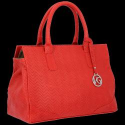 Mały Elegancki Firmowy Kuferek Skórzany firmy Vittoria Gotti Made in Italy Czerwony