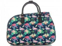 Mała Torba Podróżna Kuferek Or&Mi Flamingil Multikolor - Granatowa