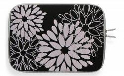 Modne Etui na Tablet 10 wzór w kwiaty Czarne