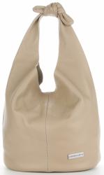 Vittoria Gotti Made in Italy Modny Shopper XL z Kosmetyczką Uniwersalna Torba Skórzana na co dzień Ziemista