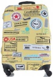 Pokrowiec na Walizkę firmy Snowball w rozmiarze L Znaki Multikolor Żółty