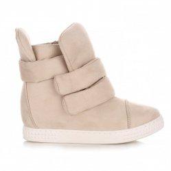 Sneakersy Damskie Beżowe