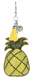 Brelok do torebki Ananas w cyrkonie Żółty