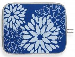 Modne Etui na Tablet 12 wzór w kwiaty Niebieskie