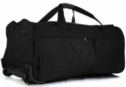 Veľká cestovná taška XL David Jones na kolesách so stojanom Čierna