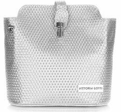Elegantné Kožené Tašky Vittoria Gotti Silver