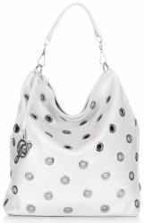 Módne talianske kožené kabelky od Vittoria Gotti biela