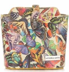 Vittoria Gotti kožené tašky s motýľmi viacfarebná Žltá