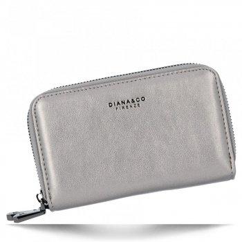 Univerzální Dámská Peněženka Diana&Co Tmavě stříbrná