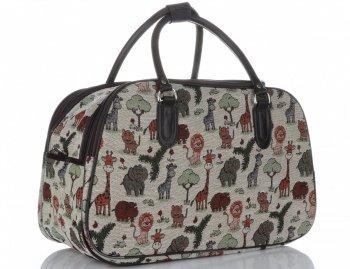 MALÁ cestovní taška kufřík Or&Mi Zoo Multicolor - béžová