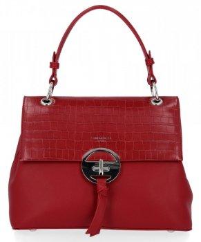 Elegantní Dámská Kabelka Kufřík David Jones Tmavě Červená