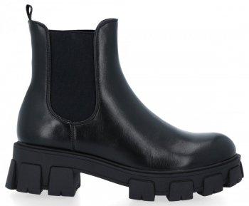Černé kotníkové boty na platformě Naomi