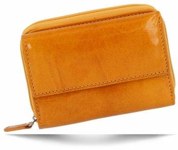 Univerzální Dámská Kožená Peněženka Vera Pelle Žlutá