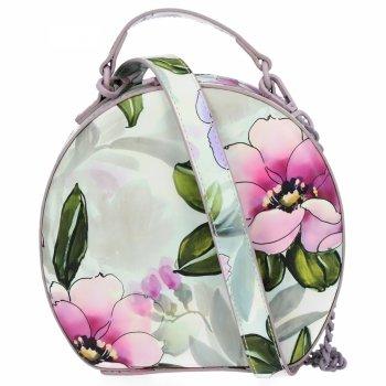 Módní Kabelky Listonošky květinový vzor Diana&Co Vřesová