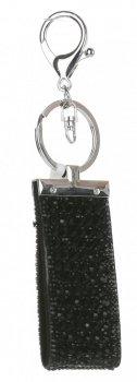 Přívěšek ke kabelce Glam Rock Key zs velkými zirkony černá