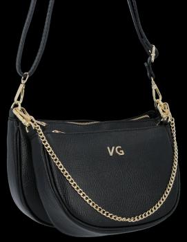 Módní Kožené Kabelky Listonošky 2v1 Vittoria Gotti Made in Italy Černá