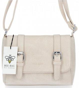 BEE BAG Dámská Kabelka Listonoška Vintage Bag Béžová