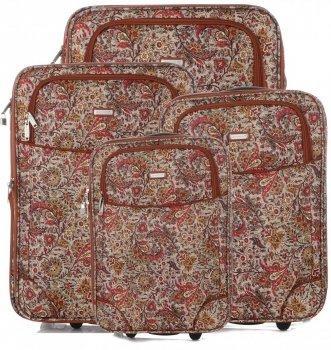 Kufry renomované firmy Madisson Sada 4v1 multicolor - čokoládové