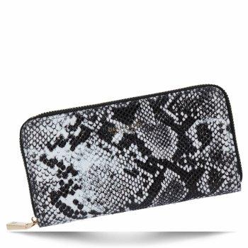 Exkluzivní Dámská Peněženka XL hadí vzor Diana&Co Černá/Bílá