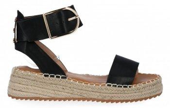 Černé sandály espadrilky na platformě Lady Glory