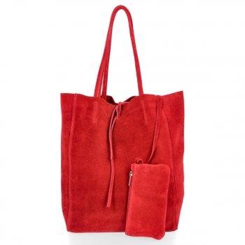 Kožené kabelky ShopperBag Bordová