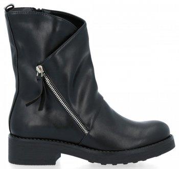 Černé kotníkové boty Olivia