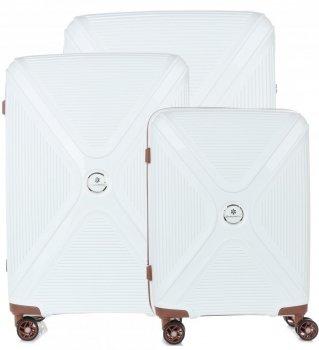 Kufry renomované firmy Snowball Sada 3v1 bílý
