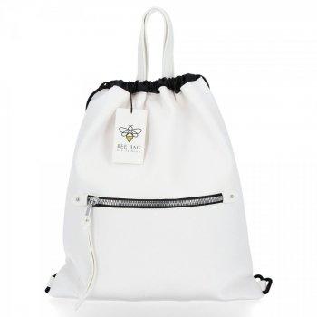 BEE BAG Univerzální Dámská Kabelka Shopper Bag Beatrice Bílá