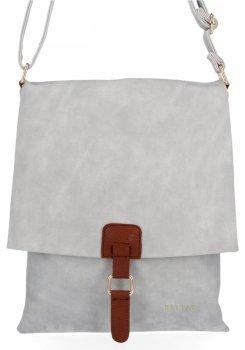 BEE BAG Módní Dámské Kabelky Listonošky XL Napoli Světle Šedá