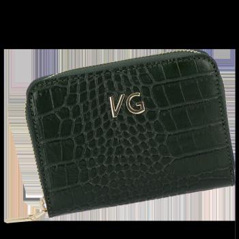 Vittoria Gotti Dámská Kožená Peněženka s motivem aligátora Lahvově Zelená