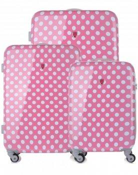 Kufry renomované firmy Madisson Sada 3v1 růžové