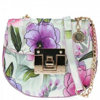 Diana&Co Módní Kabelky Listonošky květinový vzor Vřesová