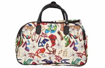 Malá Cestovní Taška Kufřík Or&Mi Shoes Multicolor - Béžová