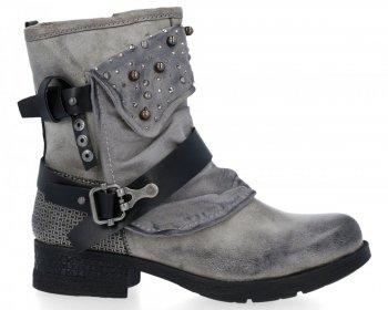 Šedé módní kotnikove boty Rita