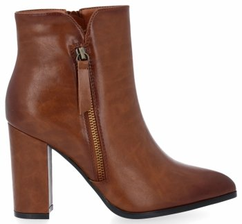 Zrzavé klasické kotníkové boty na podpatku Chloé