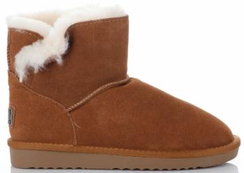 Kožené Dámské boty sněhule králík zrzavé