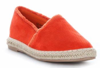 Módní dámské espadrilky ažurové Oranžové