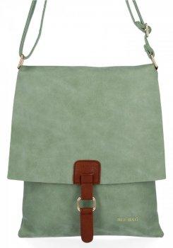 BEE BAG Módní Dámské Kabelky Listonošky XL Napoli Světle Zelená