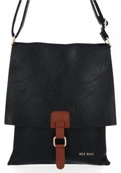 BEE BAG Módní Dámské Kabelky Listonošky XL Napoli Černá