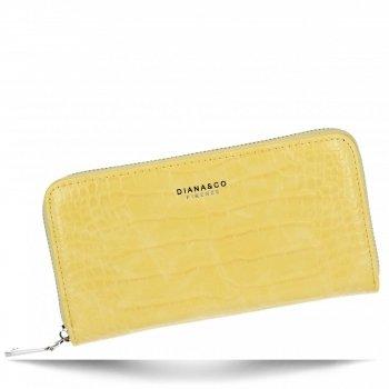 Elegantní Dámská Peněženka XL s motivem aligátora Diana&Co Žlutá