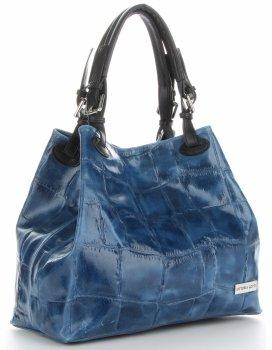Vittoria Gotti Univerzální Kožené Dámské Kabelky Shopper Jeans