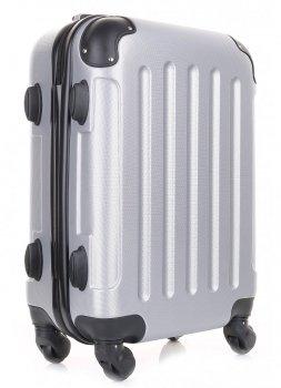 Palubní kufřík italské firmy Or&Mi 4 kolečka Stříbrná