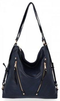 Univerzální Dámská Kabelka Grace Bags Batoh Tmavě Modrá