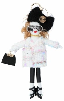 Přívěšek ke kabelce Alice Doll Bílá