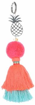 Přívěšek ke kabelce Velký módní pompon s ananasem růžová