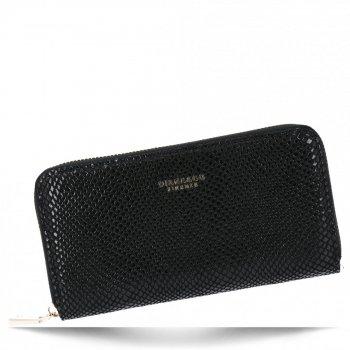 Exkluzivní Dámská Peněženka XL hadí vzor Diana&Co Černá