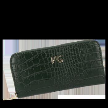 Vittoria Gotti Elegantní Dámská Kožená Peněženka s motivem aligátora Lahvově Zelená