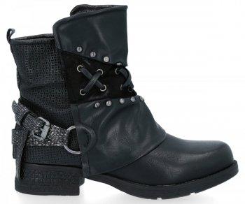 Černé módní kotníkové boty Alex
