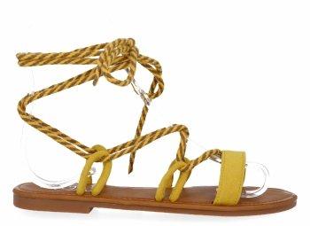 Žluté univerzální dámské sandály Givana